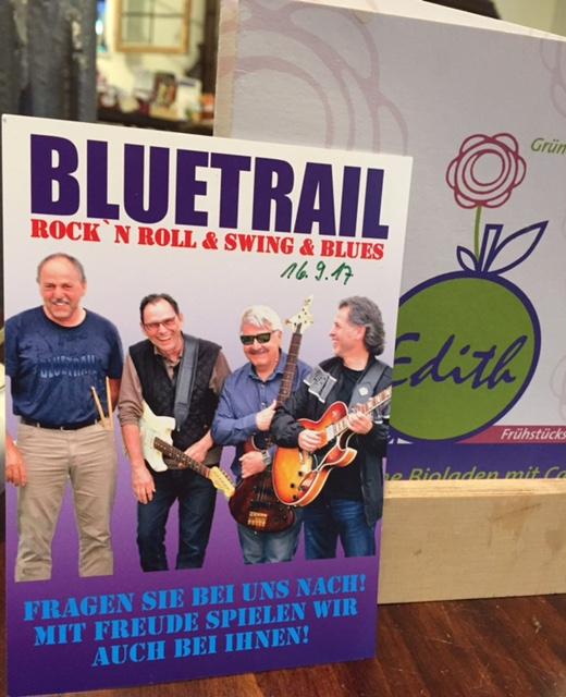 Konzert September 2017 Edith Bioladen Cafe Biberbach Bluetrail