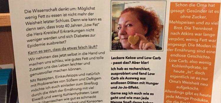 Low Carb: Vortrag von Sonja Diller am 12. Januar