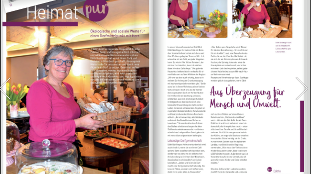 Edith im PURpur Magazin
