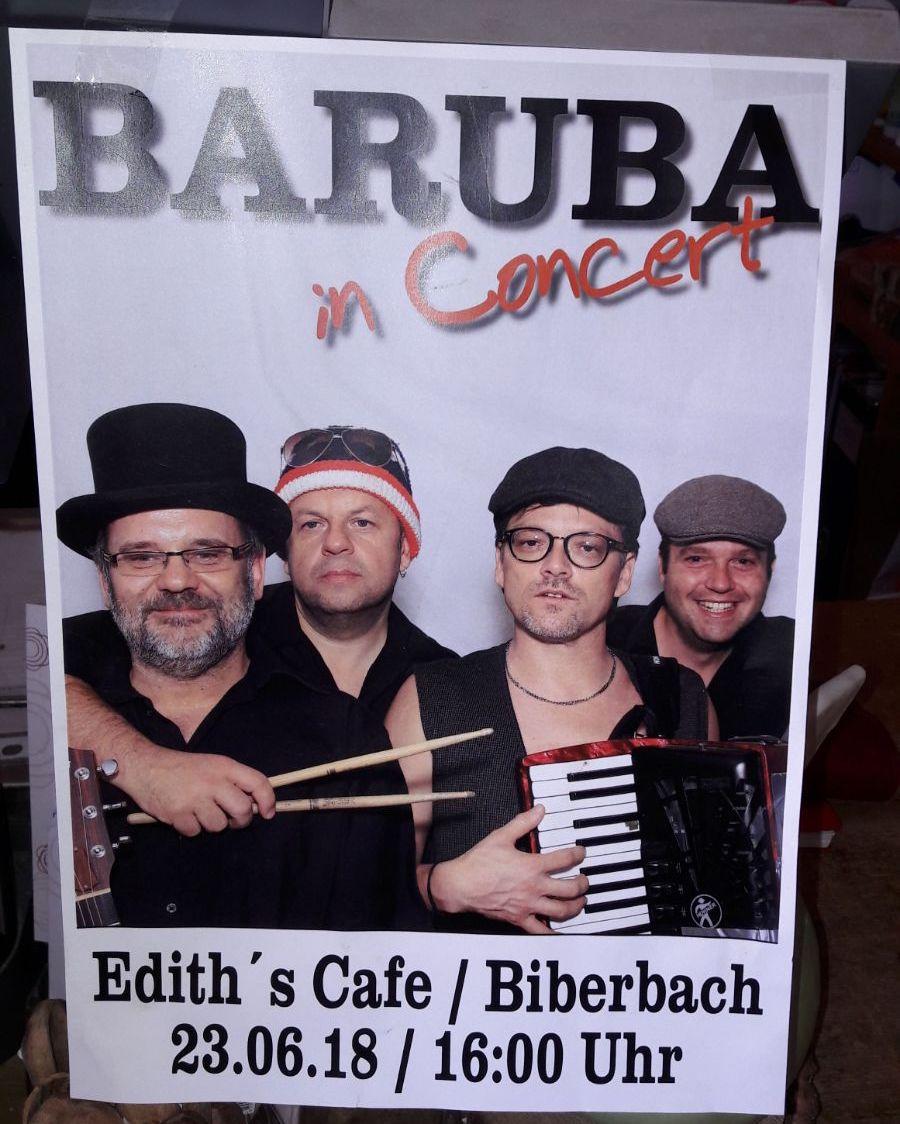 Baruba Konzert Edith Bioladen Biberbach Café